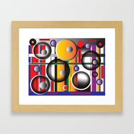 The play between structures Framed Art Print