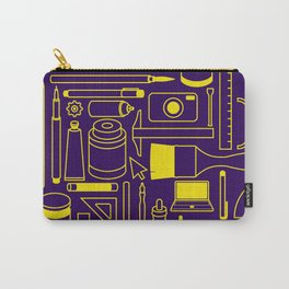 Art Supplies - Eggplant and Yellow Carry-All Pouch