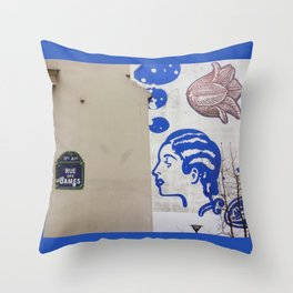 Rue des Dames, Paris Throw Pillow