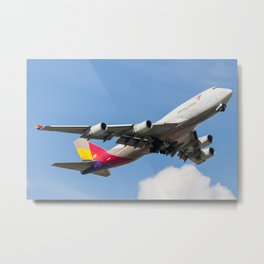 Asiana Airlines Cargo Metal Print