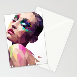 Mina - the Polygonal woman Stationery Cards
