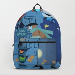 November Evening Bus Stop Backpack