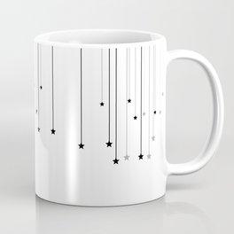 Falling Stars White Coffee Mug