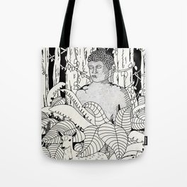 The Deer and Buddha Tote Bag