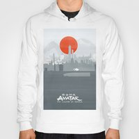the legend of korra Hoodies featuring Avatar The Legend of Korra Poster by Fabio Castro