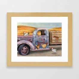 Where The Hens Gather Framed Art Print