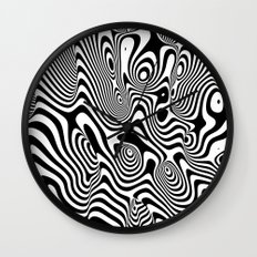 Trippy Background Wall Clock