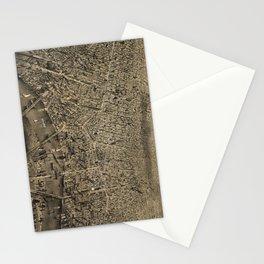 Vintage Pictorial Map of Newark NJ (1874) Stationery Cards