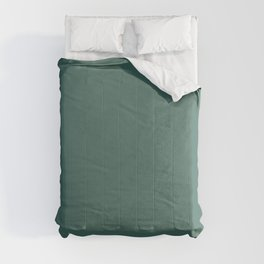 Dark Aquamarine Green Blue Solid Color Pairs To Sherwin Williams Raging Sea SW 6474 Comforters