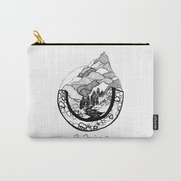 Mountainscape Black & White Carry-All Pouch