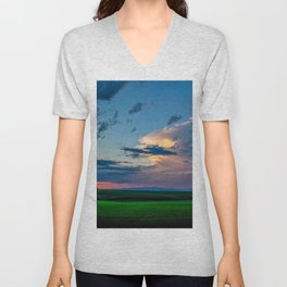 Montana Sunset Unisex V-Neck