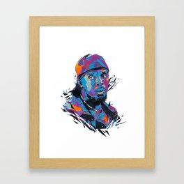 Omar Little // OUT/CAST Framed Art Print