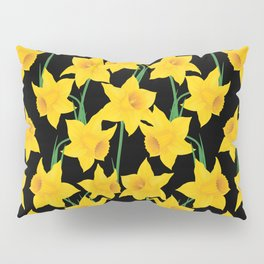 Yellow Daffodils Pattern Pillow Sham