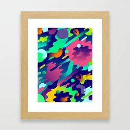 Splash Pattern Framed Art Print