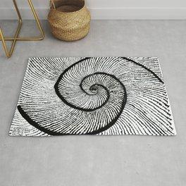 Double shell Fibonacci spiral Golden spiral Rug