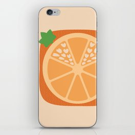 Orange Heart iPhone Skin