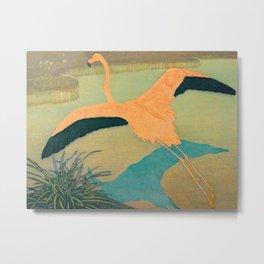 Carl Moser - Flamingo Pastel Colors Metal Print
