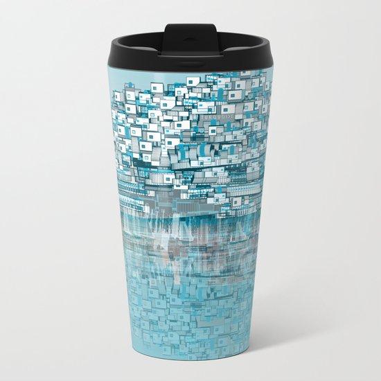 Turquoise Metal Travel Mug