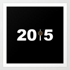 2015-NY-Black Art Print