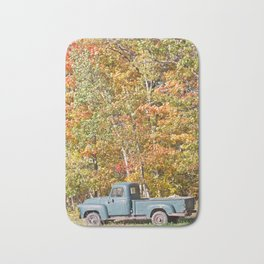 Vintage Pick-up Truck 2 Bath Mat