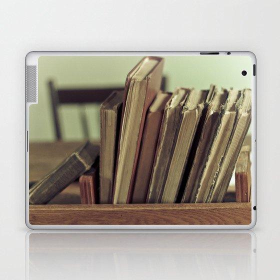 Retro Books Laptop & iPad Skin