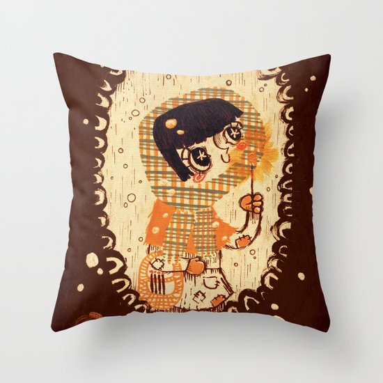 The Little Match Girl 卖火柴の小女孩 Throw Pillow