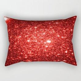 GalaXy : Red Glitter Sparkle Rectangular Pillow