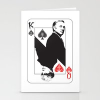 house of cards Stationery Cards featuring House Of Cards by capperflapper