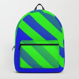 Blue & Green Chevron Backpack