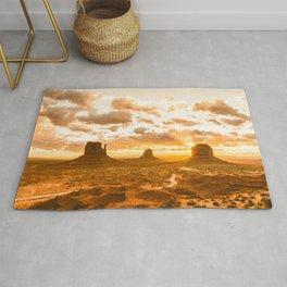 Southwest Wanderlust - Monument Valley Sunrise Nature Photography Rug