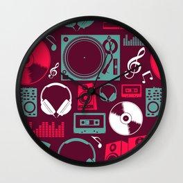 Musical seamless pattern Wall Clock