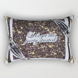Life, Let's get this party started Rectangular Pillow