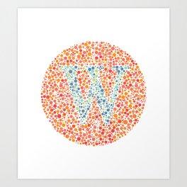 """""""W"""" Eye Test Letter Circle Art Print"""