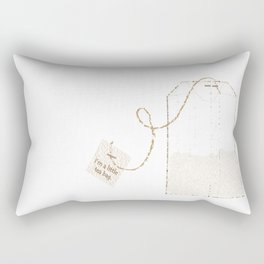 I'm a Little Tea Bag! Rectangular Pillow