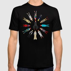 Bowie Circle Group Mens Fitted Tee X-LARGE Black