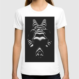 8650-SLG Sensual Female Nude Woman Wrapped with Bands of Light and Shadow T-shirt