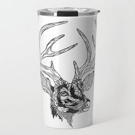 DEER head. psychedelic / zentangle style Travel Mug