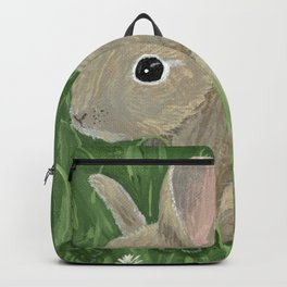 Baby Bunnies in the Grass Backpack