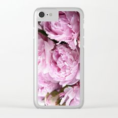 Dream on, Peonies... Clear iPhone Case