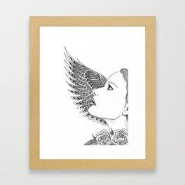 Lady Icarus Framed Art Print