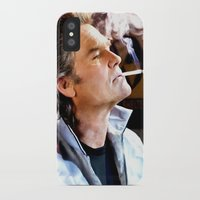 quentin tarantino iPhone & iPod Cases featuring Kurt Russell as Stuntman Mike McKay in the film Death Proof (Quentin Tarantino - 2007) by Gabriel T Toro