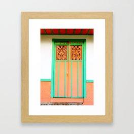 Doors - Orange Framed Art Print