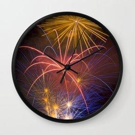 Fireworks Finale Wall Clock