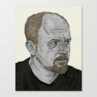 louis ck Canvas Prints featuring Louis CK by Andy Christofi