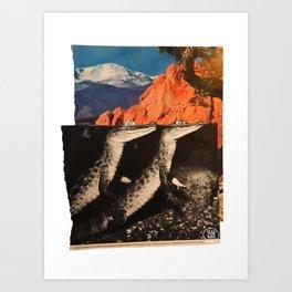 Young Caimans Hiding Art Print