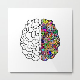 The Brain of Creativity Metal Print