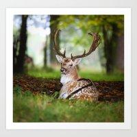 bambi Art Prints featuring Bambi  :)  by Ironia Art