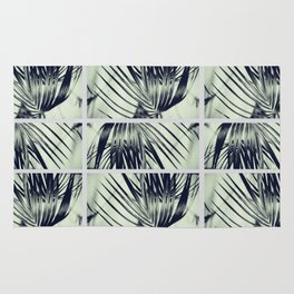 Green Palm Leaves Pattern #1 #decor #art #society6 Rug