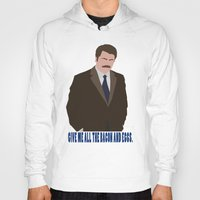 swanson Hoodies featuring The Swanson by sens