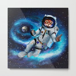 Space cat iPhone 4 5 6 7, ipod, ipad, pillow case and tshirt Metal Print